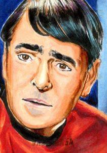 Star Trek 50th Anniversary Trading Card Sketch Tim Levandoski