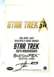 Star Trek 50th Anniversary Trading Card Sketch Tim Levandoski Back