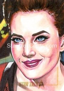 Star Trek 50th Anniversary Trading Card Sketch Veronica OConnell