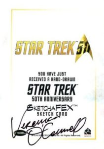 Star Trek 50th Anniversary Trading Card Sketch Veronica OConnell Back 1