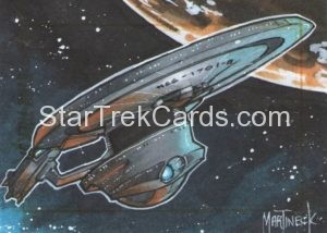 Star Trek 50th Anniversary Trading Card Sketch Warren Martineck