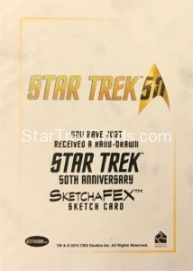 Star Trek 50th Anniversary Trading Card Sketch Warren Martineck Back