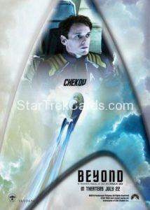 Star Trek Beyond Promo Set Trading Card Chekov Back