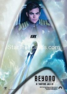 Star Trek Beyond Promo Set Trading Card Kirk Back