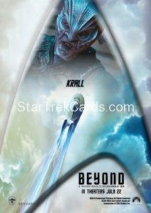 Star Trek Beyond Promo Set Trading Card Krall Back