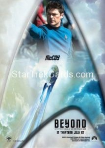 Star Trek Beyond Promo Set Trading Card McCoy Back