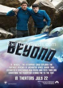 Star Trek Beyond Promo Set Trading Card Promotional Kirk Jaylah Uhura Spock Scotty Back