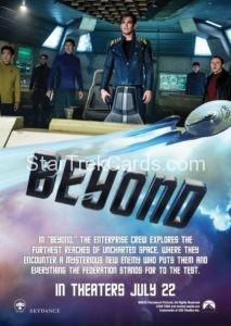 Star Trek Beyond Promo Set Trading Card Promotional USS Enterprise Back