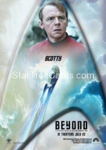 Star Trek Beyond Promo Set Trading Card Scotty Back