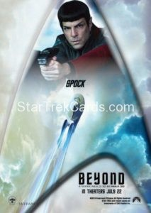 Star Trek Beyond Promo Set Trading Card Spock Back