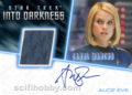 Star Trek Beyond Trading Card Alice Eve Autograph Relic Card