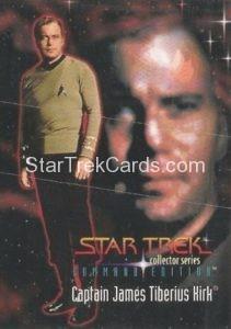 Star Trek Command Edition Playmates Action Figure Cards Captain James T Kirk