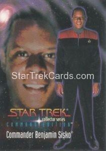 Star Trek Command Edition Playmates Action Figure Cards Commander Benjamin Sisko