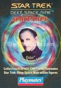 Star Trek DS9 Playmates Action Figure Space Caps Trading Card 17