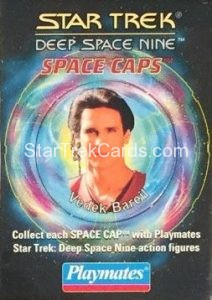 Star Trek DS9 Playmates Action Figure Space Caps Trading Card 8