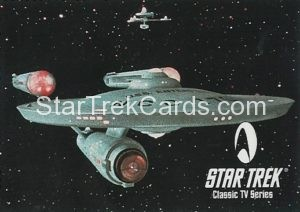 Star Trek Fan Club Trading Card Star Trek The Original Series USS Enterprise