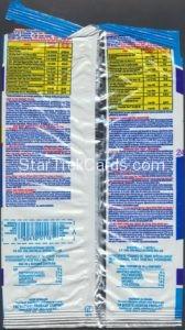 Star Trek Hostess Frito Lay Package Back