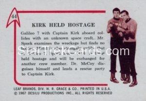 Star Trek Leaf 1967 Trading Card 44 Back