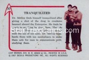 Star Trek Leaf 1967 Trading Card 50 Back