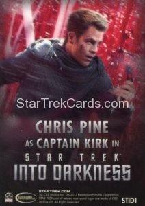 Star Trek Movies Collectors Set Trading Card STID1 Back