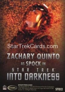 Star Trek Movies Collectors Set Trading Card STID2 Back