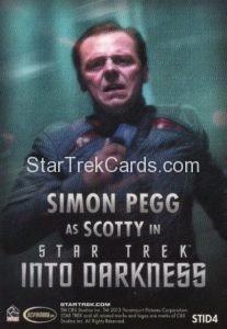 Star Trek Movies Collectors Set Trading Card STID4 Back