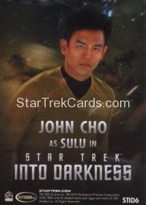 Star Trek Movies Collectors Set Trading Card STID6 Back