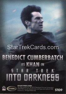 Star Trek Movies Collectors Set Trading Card STID9 Back