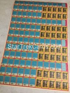 Star Trek The Motion Picture Manor Bread Uncut Sheet 132 Cards Back
