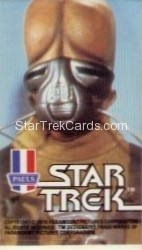 Star Trek The Motion Picture Paul's Ice Cream Trading Card Sticker Alien in Silver Mask