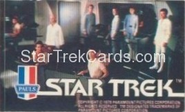 Star Trek The Motion Picture Paul's Ice Cream Trading Card Sticker Bridge Crew At Stations