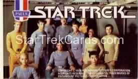 Star Trek The Motion Picture Paul's Ice Cream Trading Card Sticker Bridge Crew Kirk in Grey