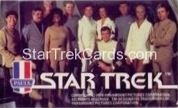 Star Trek The Motion Picture Paul's Ice Cream Trading Card Sticker Full Crew on Bridge