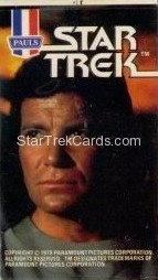 Star Trek The Motion Picture Paul's Ice Cream Trading Card Sticker Kirk Looks Right