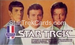 Star Trek The Motion Picture Paul's Ice Cream Trading Card Sticker Kirk Spock and McCoy Landscape