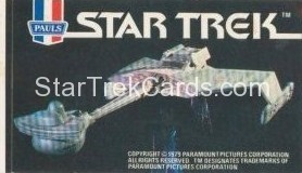 Star Trek The Motion Picture Paul's Ice Cream Trading Card Sticker Klingon Bird of Prey