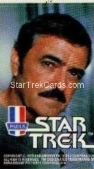 Star Trek The Motion Picture Paul's Ice Cream Trading Card Sticker Scotty