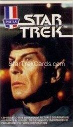 Star Trek The Motion Picture Paul's Ice Cream Trading Card Sticker Spock Looks Right