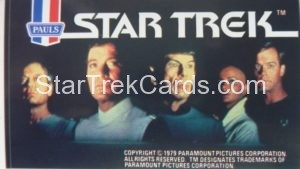 Star Trek The Motion Picture Paul's Ice Cream Trading Card Sticker TMP Main Crew