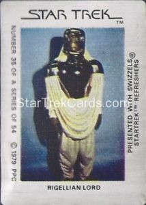 Star Trek The Motion Picture Swizzels Trading Card 35