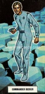 Star Trek The Motion Picture Weetabix Trading Card Commander Decker Front