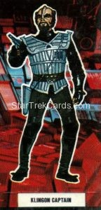 Star Trek The Motion Picture Weetabix Trading Card Klingon Captain Front