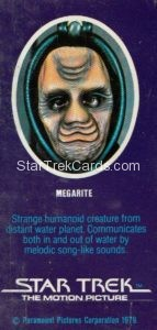 Star Trek The Motion Picture Weetabix Trading Card Megarite Back