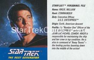 Star Trek The Next Generation Action Figure Cards Galoob Commander William Riker