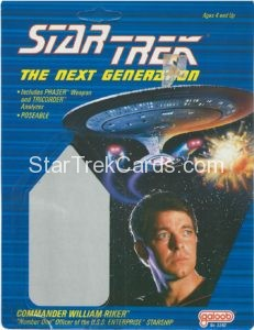 Star Trek The Next Generation Action Figure Cards Galoob Commander William Riker Alternate