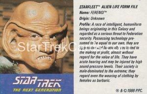 Star Trek The Next Generation Action Figure Cards Galoob Ferengi