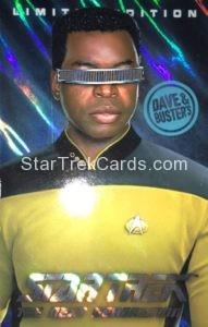 Star Trek The Next Generation Arcade Set Trading Card Geordi Laforge Foil Enhanced