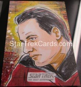 Star Trek The Next Generation Portfolio Prints Series One Trading Card Sketch Judit Tondora
