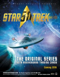 Star Trek The Original Series 50th Anniversary Trading Card Sell Sheet 1