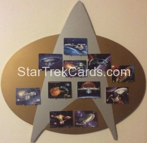 Star Trek The Voyagers Card Collection Porcelain Trading Card Display Board